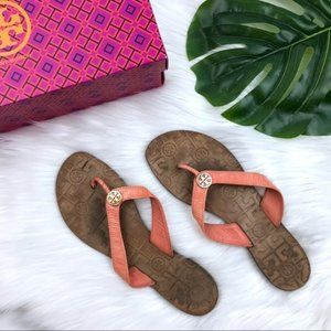 Tory Burch Tart Orange Thora Sandals 10